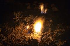 Monte a quimera, chamas eternos em Lycia Turkey antigo Imagem de Stock