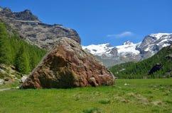 Monte Rosa από Pian Di Verra, Valle δ ` Aosta, Ιταλία Στοκ φωτογραφίες με δικαίωμα ελεύθερης χρήσης