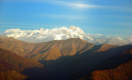 Monte Rosa. South side of Monte Rosa massif (4634mt), west Alps, Italy Stock Photography