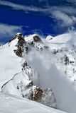 Monte rosa. View of monte rosa from vincent pyramid summit Stock Photo
