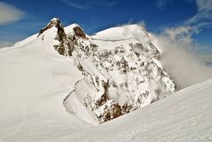 Monte rosa. View of monte rosa from vincent pyramid summit Royalty Free Stock Photo