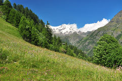Monte Rosa, Aosta Valley, Italy Stock Image