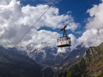 Monte Rosa cable car Stock Photography