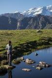 Monte Rosa-de herfst landascape Royalty-vrije Stock Afbeeldingen