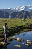 Monte Rosa-de herfst landascape Stock Afbeeldingen