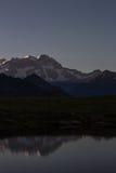Monte Rosa-de herfst landascape bij nacht Royalty-vrije Stock Afbeeldingen