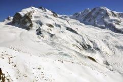 Monte Rosa e Liskamm Immagine Stock