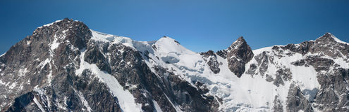 Monte Rosa. East wall of Monte Rosa Stock Image