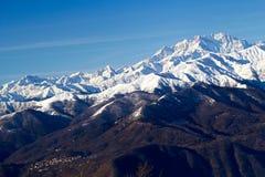 Monte rosa glacier from mottarone bright sunny day Stock Image