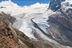 Monte Rosa Glacier Stock Images