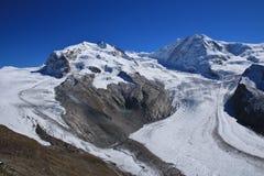 Monte Rosa and glacier Stock Image