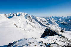 Monte rosa from gobba di rollin Stock Photo