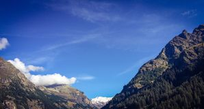 Monte Rosa from Gover lake park in Gressoney Royalty Free Stock Image