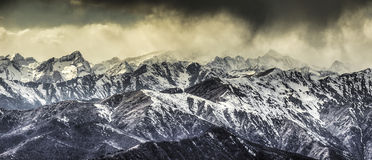 Monte Rosa group and storm clouds Stock Photo
