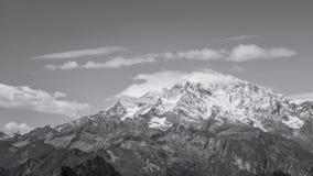 Monte Rosa i black&white royaltyfria foton