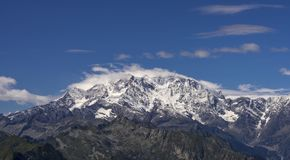 Monte Rosa - lato sezon Zdjęcie Royalty Free