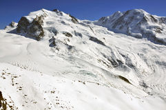 Monte Rosa and Liskamm Stock Image