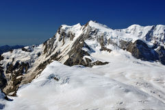 Monte Rosa and Liskamm Royalty Free Stock Images