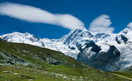 Monte Rosa and Liskamm (Switzerland Alps) Royalty Free Stock Images