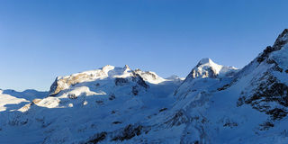 Monte Rosa and Lyskamm Royalty Free Stock Photography
