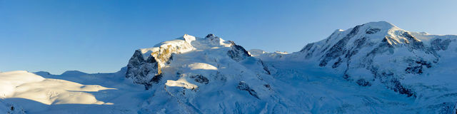 Monte Rosa and Lyskamm Stock Image