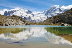 Monte Rosa and Lyskamm Stock Photos