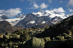 Monte Rosa massif Royalty Free Stock Photo