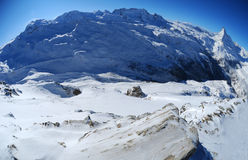 Monte Rosa mountain massif Stock Images