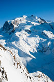 Monte Rosa mountain peak Royalty Free Stock Image