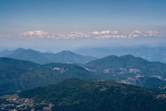 Monte rosa mountain range Stock Images