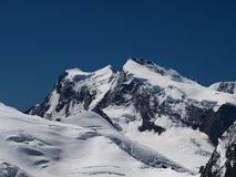 Monte Rosa Mountain Ridge Royalty Free Stock Photography