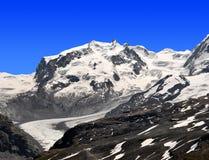 Monte Rosa - Swiss Alps Stock Image