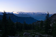 Monte Rosa, twilight Royalty Free Stock Photography
