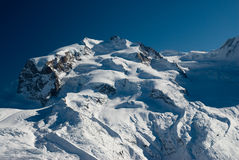Monte rosa in winter Stock Photos