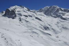 Monte Rosa y Liskamm Imagenes de archivo
