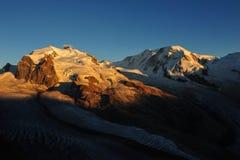 Monte Rosa y Liskamm Fotos de archivo libres de regalías