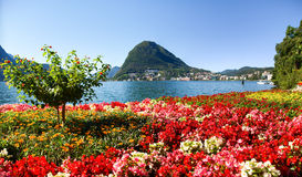 Monte San Salvatore widzieć od parka fotografia royalty free