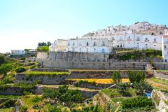 Monte Sant'Angelo, Apulia, Italy Stock Photography