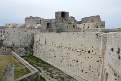 Monte Sant ' Angelo Castle Arkivbilder