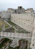 Monte Sant ' Angelo Castle Arkivbild