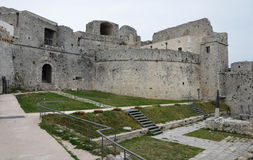 Monte Sant ' Angelo Castle - cortile Fotografia Stock Libera da Diritti
