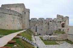 Monte Sant ' Angelo Castle - cortile Fotografie Stock
