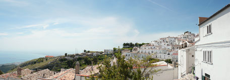 Monte Sant'Angelo Panorama Royalty Free Stock Photo