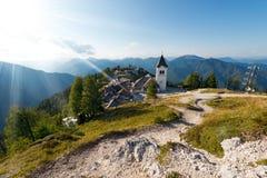Monte Santo di Lussari - Tarvisio Italia Fotografie Stock