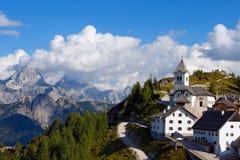 Monte Santo Di Lussari, Tarvisio Włochy - Obrazy Royalty Free