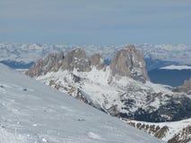 Monte Sassolungo Fotografia de Stock Royalty Free