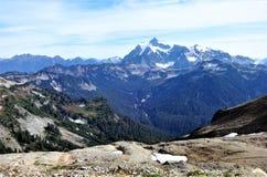 Monte Shuksan e o Mountain View norte da cascata do lagópode dos Alpes Ridge Fotografia de Stock