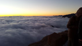 Monte Sinai, alba Immagini Stock