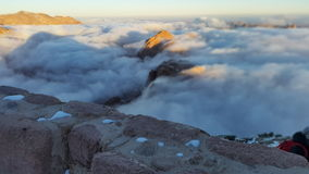 Monte Sinai, alba Immagini Stock Libere da Diritti