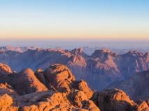 Monte Sinai no nascer do sol imagem de stock